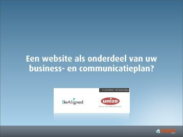 Een website als onderdeel van uw business- en ... - UNIZO.be