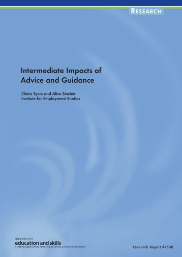 Intermediate Impacts of Advice and Guidance - Digital Education ...
