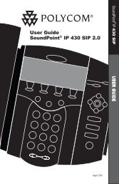 SoundPoint IP 430 User Guide - FortiVoice - Fortinet Phone Systems