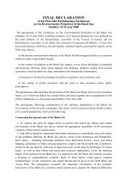 FINAL DECLARATION - Parliamentary Assembly of the Black Sea ...
