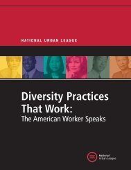 Diversity Practices That Work: - National Urban League