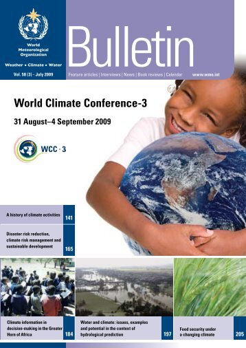 WMO Bulletin 58 (3) - July 2009 - WCRP-Home