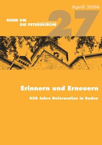 Erinnern und Erneuern - RUNDUMDIEPETERSKIRCHE.de