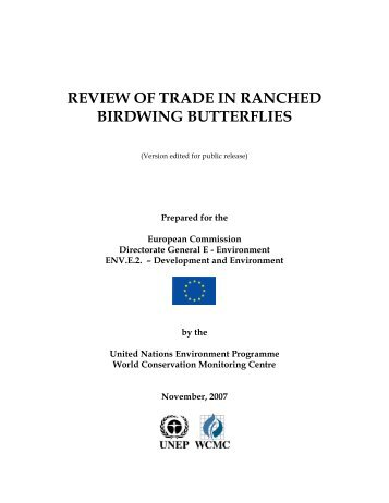 review of trade in ranched birdwing butterflies - UNEP World ...