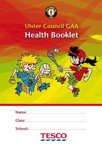 Health Booklet - Ulster GAA