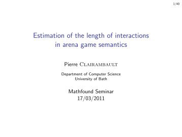 Estimation of the length of interactions in arena game semantics