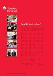 Geschäftsjahr 2007 - Sparkasse Darmstadt
