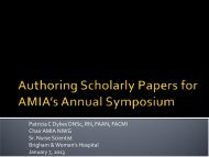 Authoring Scholarly Papers for AMIA's Annual Symposium