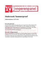 Onderzoek 'Summerproof' - EenVandaag