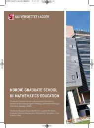 nordic graduate school in mathematics education - Universitetet i ...