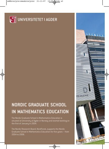 nordic graduate school in mathematics education - Universitetet i ...