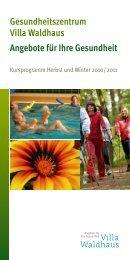 Gesundheitszentrum Villa Waldhaus Angebote für Ihre Gesundheit