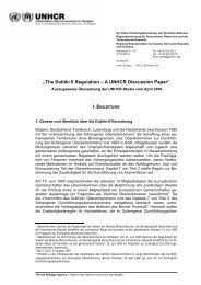 """The Dublin II Regulation – A UNHCR Discussion Paper"""