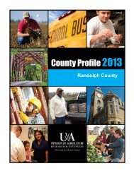 County Profile 2013 - University of Arkansas Cooperative Extension ...