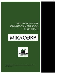 Western Area Power AdministratIon Operations Study Report