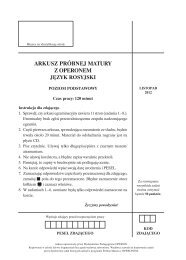 arkusz próbnej matury z operonem język rosyjski - Polska