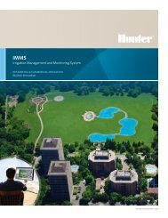 Irrigation Management and Monitoring System - Hunter Industries