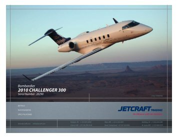 Bombardier 2010 Challenger 300 - Sitepro