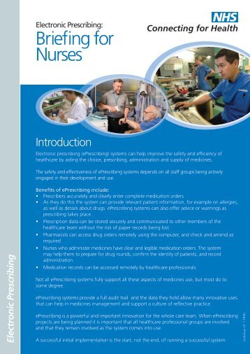 Briefing for Nurses - NHS Connecting for Health