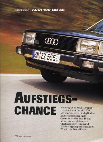 c/o Motor Klassik 3/2004 - Audi 100