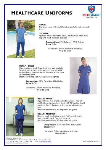 HEALTHCARE UNIFORMS - Medguard Healthcare