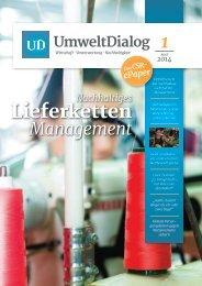 Nachhaltige Lieferkette - UmweltDialog E-Paper Nr. 1 - April 2014