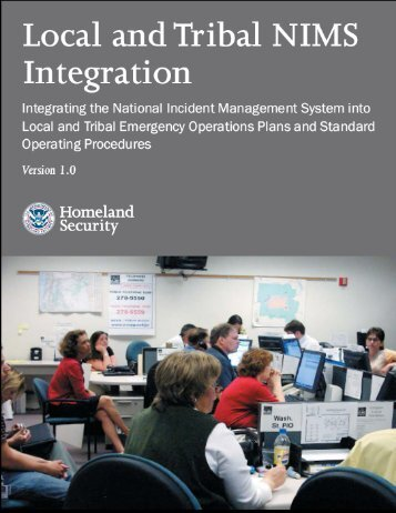Local and Tribal NIMS Integration - Federal Emergency ...