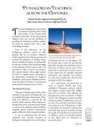 Pythagorean Teachings across the Centuries - Rosicrucian Order