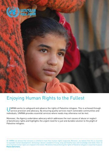 Enjoying human rights to the fullest - Unrwa