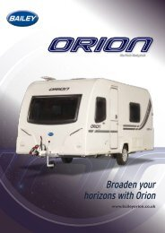 Broaden your horizons with Orion - M & M Leisure