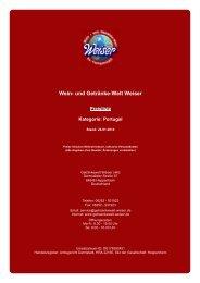 Preisliste für Kategorie: Portugal - und Getränke-Welt Weiser