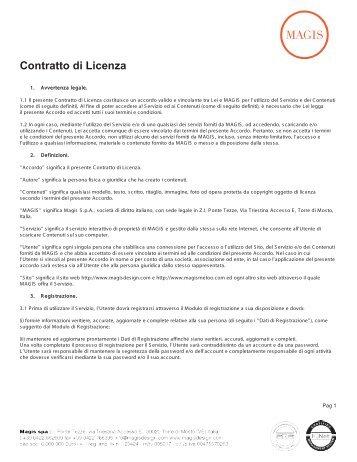 Contratto di Licenza - Magis