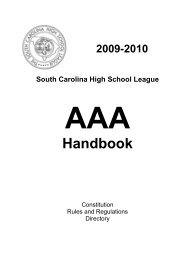AAA 2009-10 Handbook - South Carolina High School League