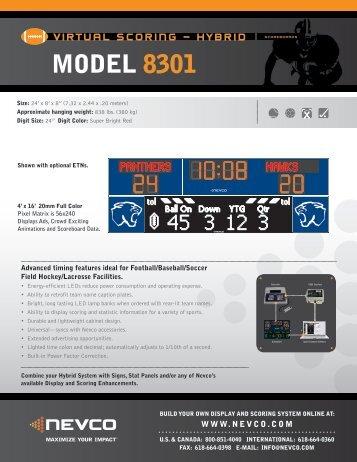 MODEL 8301 - Nevco