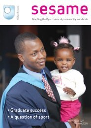 sesame issue 227 - The Open University
