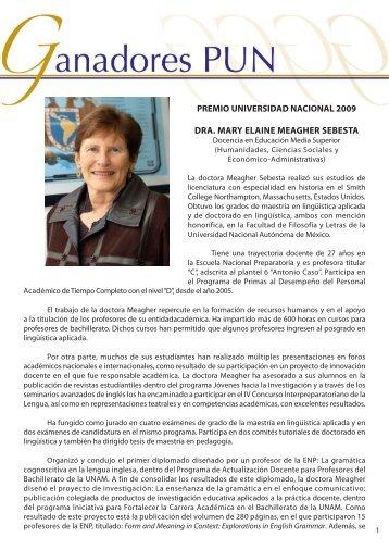 Dra. Mary E. Meagher - dgapa unam