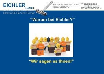 Wir sind Reparatur Service-Center für ...  - Eichler GmbH