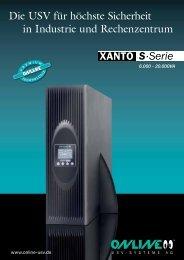 Datenblatt XANTO S 6000 - 20000 - ONLINE USV-Systeme