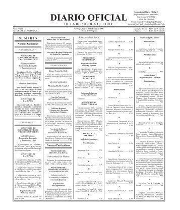 Diario Oficial de la República de Chile - Coordinación de ...