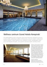 Wellness centrum Grand Hotela Kempinski - Mapei