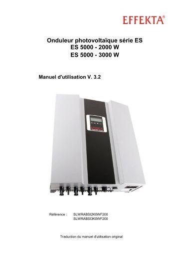 Onduleur photovoltaïque série ES ES 5000 - Effekta