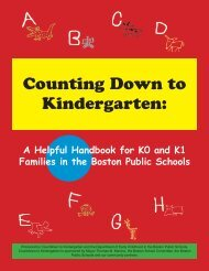 Kindergarten Handbook - Countdown to Kindergarten