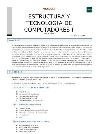 estructura y tecnologia de computadores i - Departamento de ...