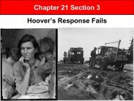 Chapter 21 Section 3 Hoover's Response Fails
