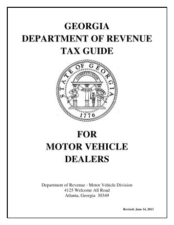 georgia motor vehicle s tax