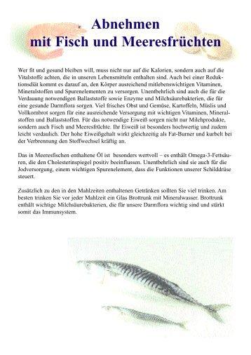 Abnehmen mit Fisch und Meeresfrüchten als PDF Download