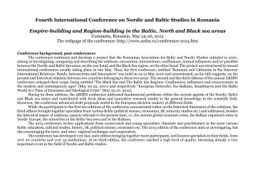 Fourth International Conference on Nordic and Baltic Studies in ...