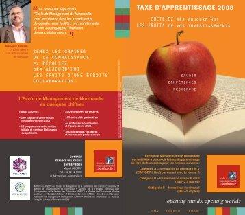 taxe d'apprentissage 2008 - EM Normandie