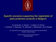 Development of national groundwater scenarios in Belgium - pfmodels