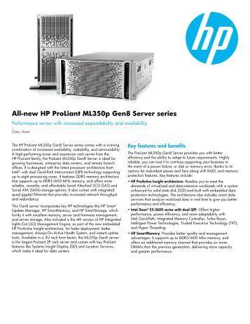 hp proliant dl360 g6 server data sheet q associates HP DL380 G7 HP BL460c Specs